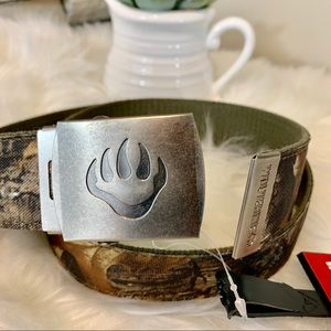 WOLVERINE Mossy Oak Camo Slide Buckle Belt Small